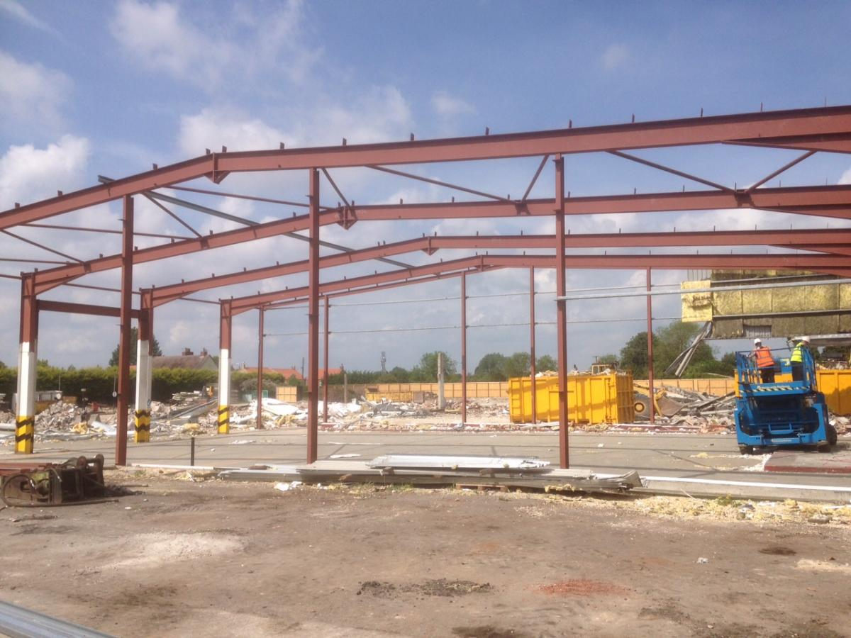 80 ft x 80 ft x 24 ft used steel building